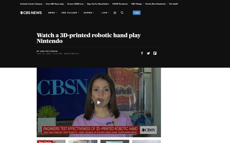 Watch a 3D-printed robotic hand play Nintendo