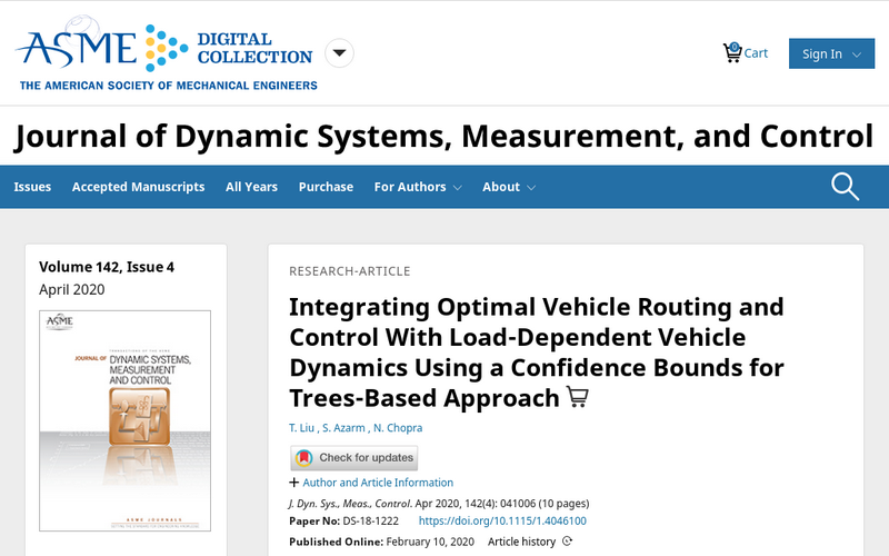 Integrating optimal vehicle routing and control with load-dependent vehicle dynamics using a confidence bounds for trees-based approach