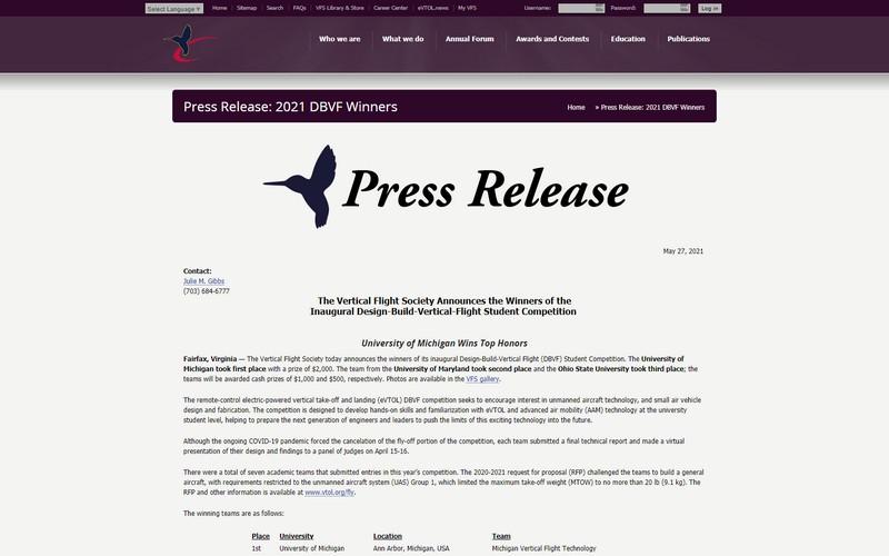 Press release 2021 DBVF winners