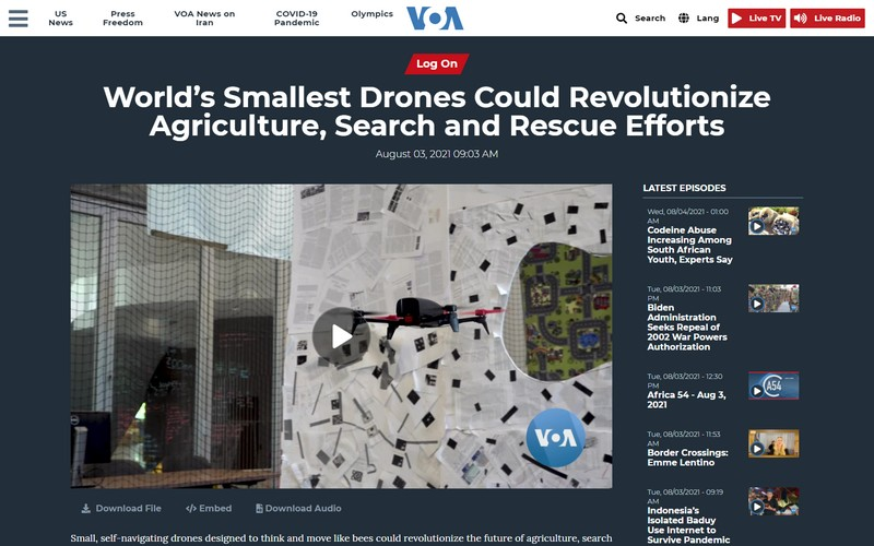 World's smallest drones could revolutionize agriculture search and rescue efforts