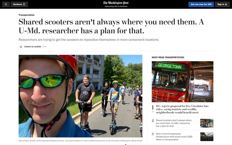 Shared scooters aren't always where you need them. A U-Md. researcher has a plan for that.