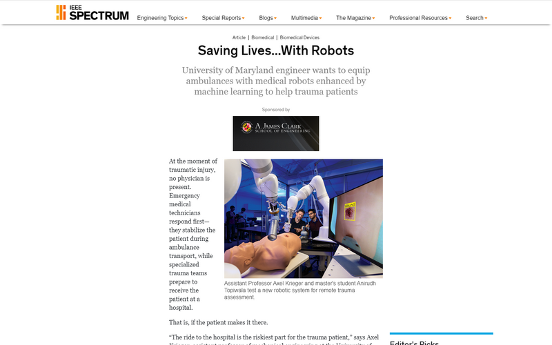 Saving lives...with robots